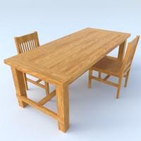 dining table chair 3d obj