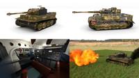 built tiger e late 3d model