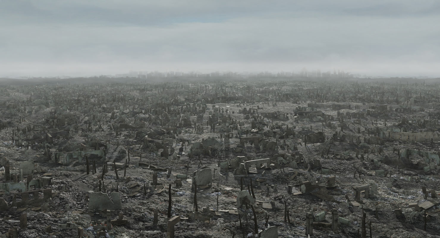 3d ruined city - fallout