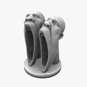 max decorative creepy heads