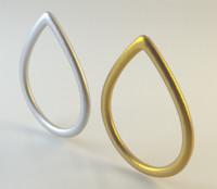 tear shaped ring 3d obj