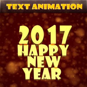 text animation happy new year ma