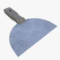 3d model subdivision putty knife
