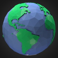Low Poly Toon Earth