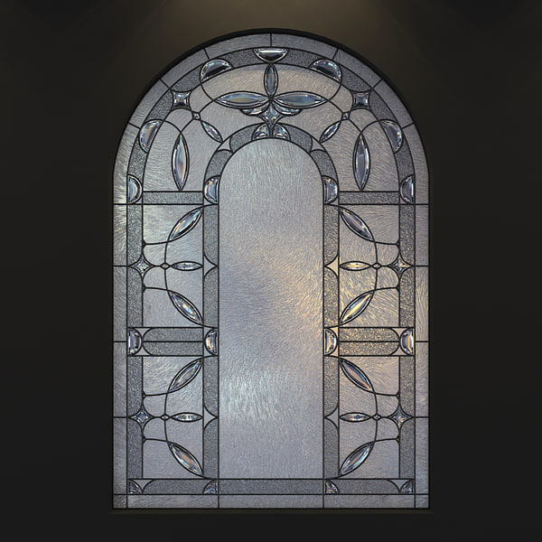 stained-glass arc 3 frosted glass 3d model