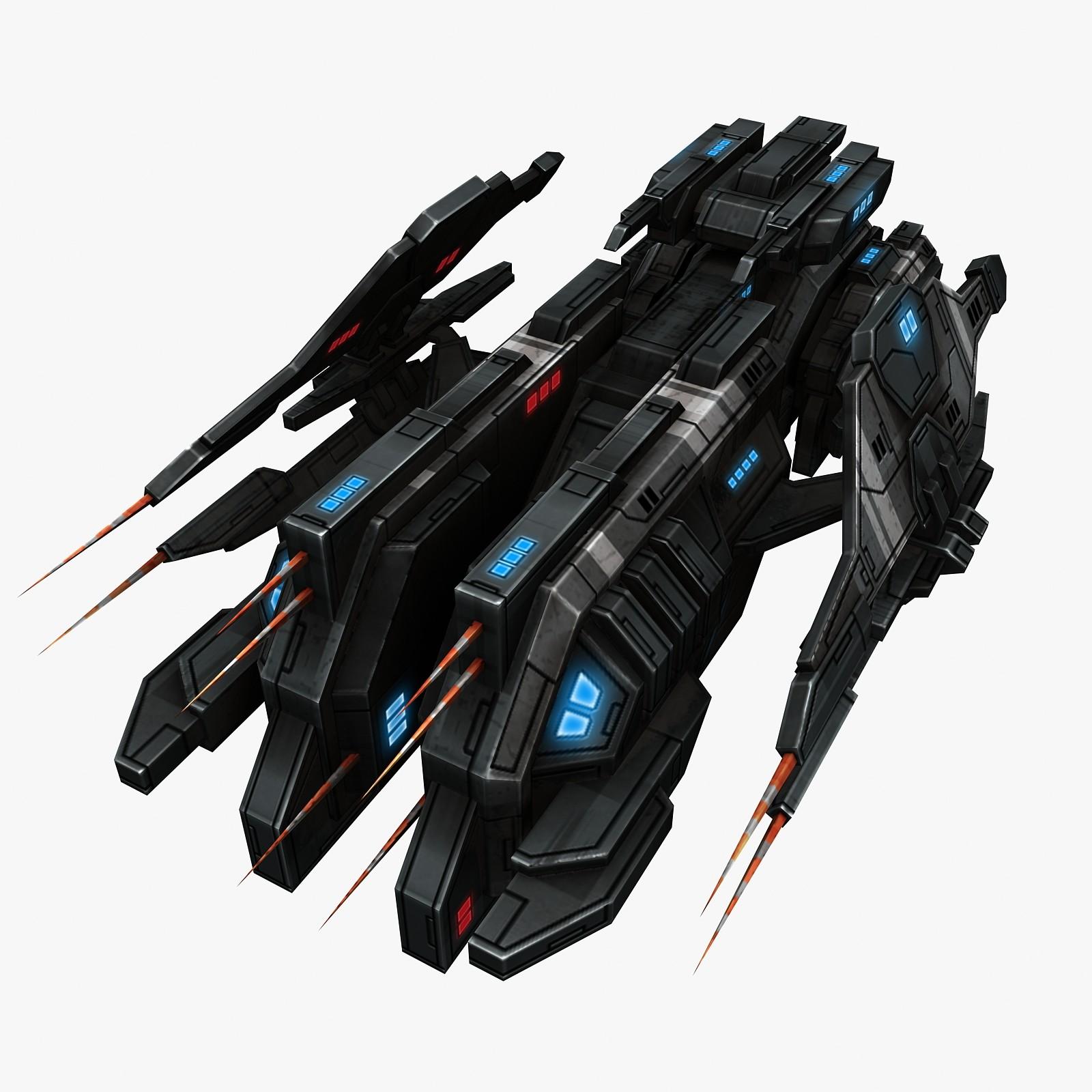 fi ship fighter 3d model
