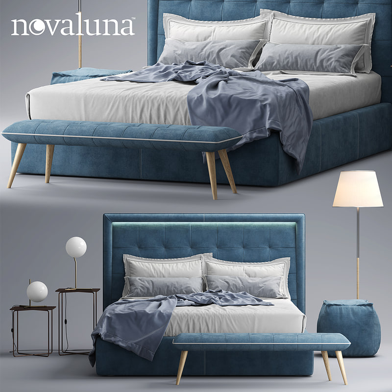 3d model novaluna prince bed