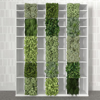 Bookshelf with vertical garden