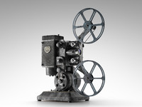 3d model of ampro 16mm projector