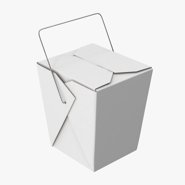 chinese takeout box closed 3d obj