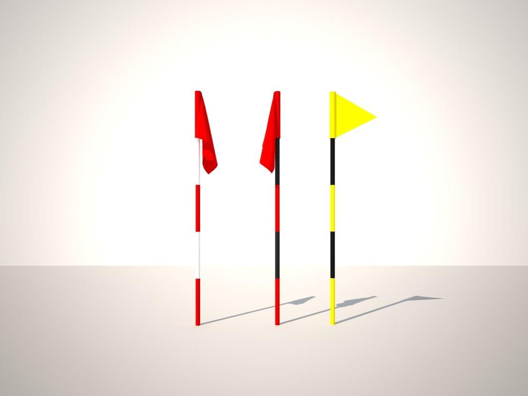 golf flag 3d max