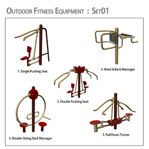 3d outdoor fitness equipment
