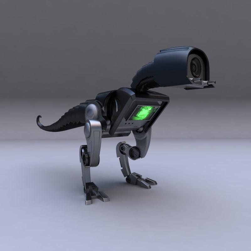 3d spying dinorobot robotic model