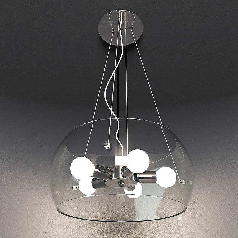3d chandelier ideal lux model