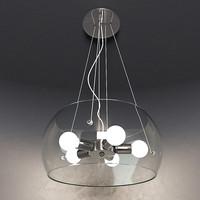 3d chandelier ideal lux model