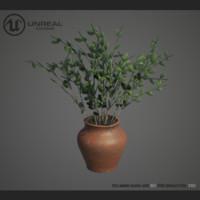 home plant rose 3d model