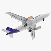 3d airbus a310-300 fedex rigged model