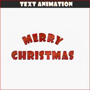3d text animation merry christmas model