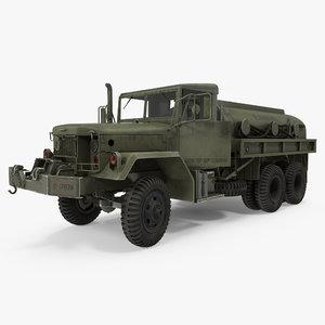 army fuel tank truck 3d model