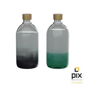 bottles interior design 3d obj