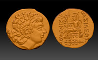 A copy of the ancient coin