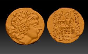 copy gold coin 3d model