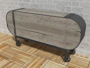 dresser - industrial loft 3d model