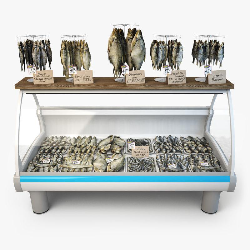 3d dried fish model