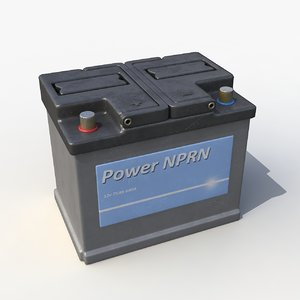 car battery 3d max
