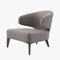 minotti aston armchair 3d model