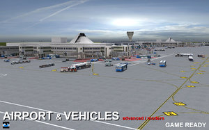 3d airport vehicles model