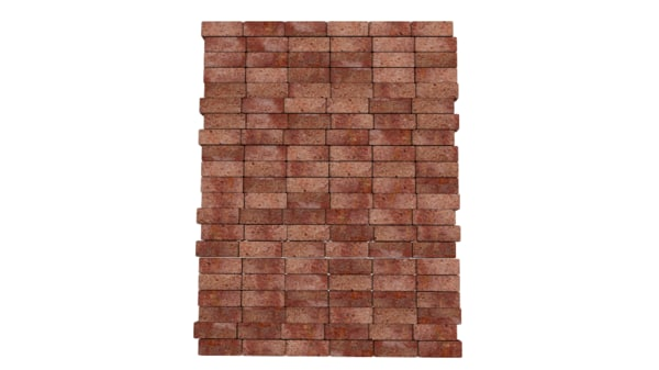 brick wall 3d obj