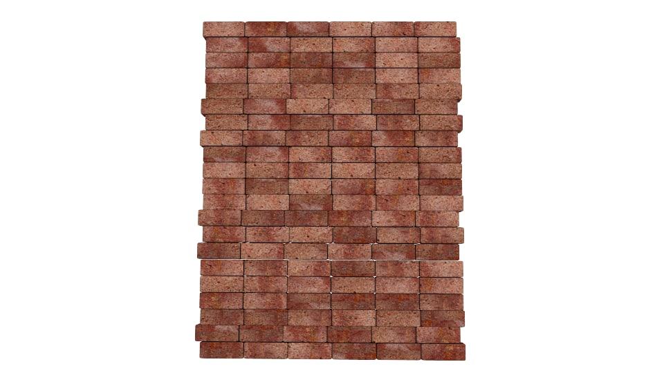 brick wall 3d obj