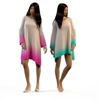 woman dresses 3d fbx