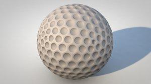 3d ball golf golfball