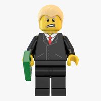 donald trump lego 3d model