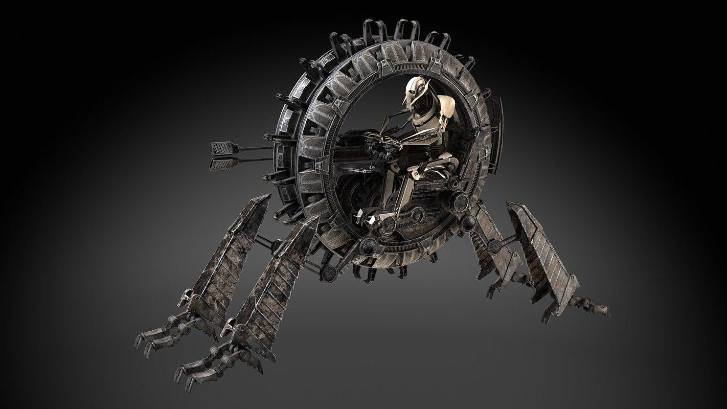 grievous wheel bike 3d model