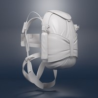 3d model military backpack