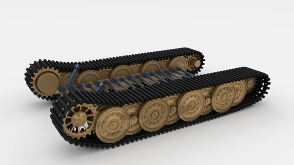 3d panzerkampfwagen tiger e suspension model