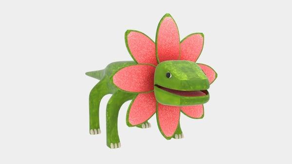 petal monster lizard 3d 3ds