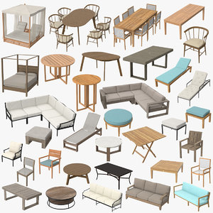 3d model patio furniture