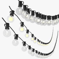 3d model string lights