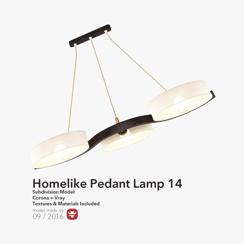 3d model homelike pedant lamp