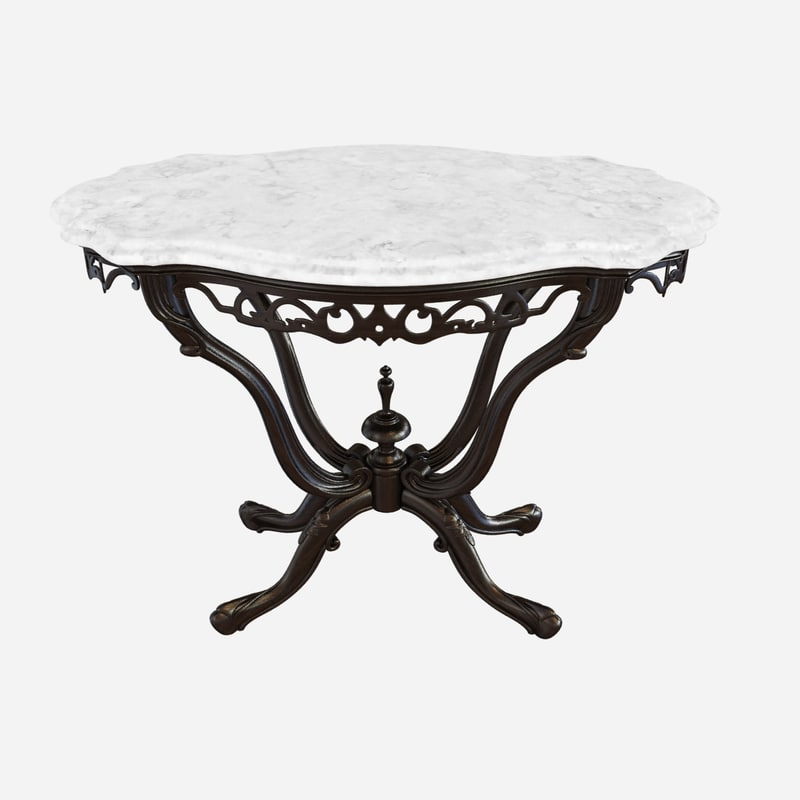 table anglo-indian marble india 3d max