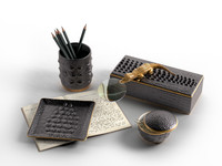 Crocodile Collection Diary, Boxes and Cup with Pencils