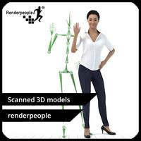 photorealistic human rigged - max free