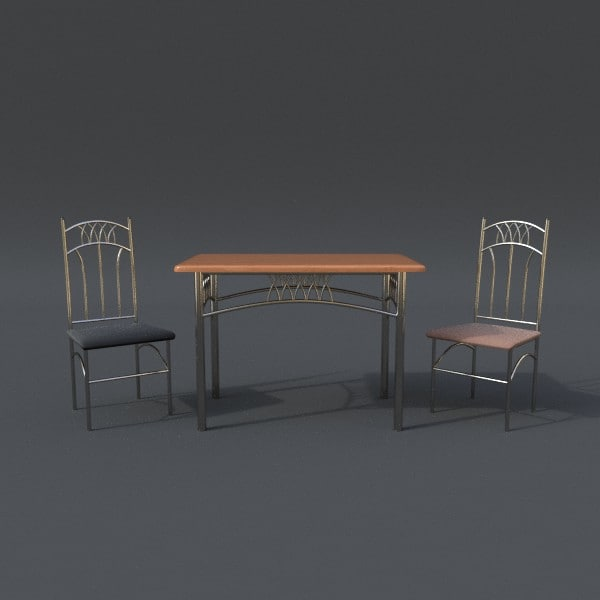 3d table chair set