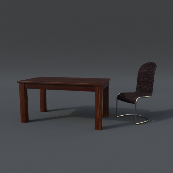 table chair set 3ds