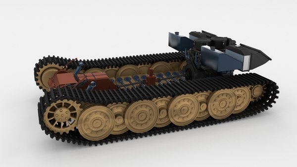 3d model panzerkampfwagen tiger e engine