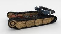 3d model panzerkampfwagen tiger e engine